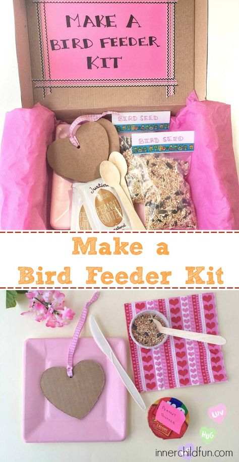 Make a Bird Feeder Kit! — these would be so much fun to send….or receive! Make a Bird Feeder Kit! — these would be so much fun to send….or receive! Craft Kits For Kids, Diy For Kids, Baking Kits For Kids, Diy Kits For Adults, Kids Baking, Inner Child, Make A Bird Feeder, Bird Feeders For Kids To Make, Bird Birthday Parties