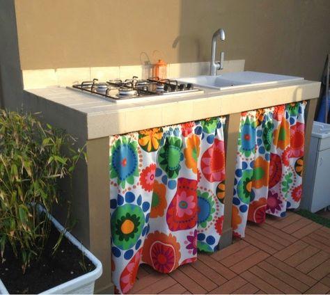 Risultati immagini per tendine per cucine in muratura | backyard ...