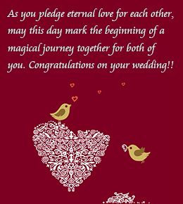 Straight From Your Heart Words Of Congratulations For A Wedding