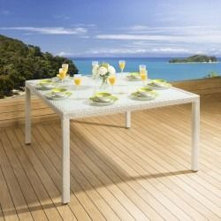 Outdoor Square Dining Table In Stone