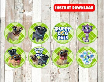 Puppy Dog Pals Thank You Tags Instant Download Puppy Dog Etsy Pet Adoption Party Dogs And Puppies Puppies