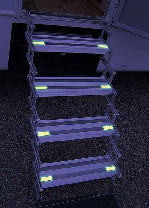 Add glow-in-the-dark tape to your stairs at night.