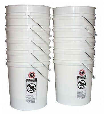 Sponsored Link 10 Pack 5 Gal Bpa Free Non Toxic Plastic Food Grade Bucket Hydroponic Grow Pail In 2020 Pail Food Grade Buckets Plastic Buckets