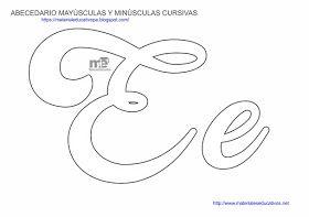 MOLDES DE LETRAS CURSIVAS MAYÚSCULAS Y MINÚSCULAS ~ MATERIAL ...