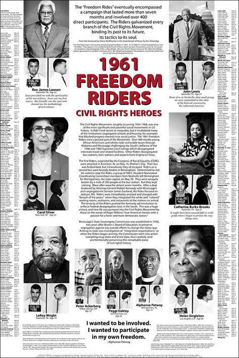 """1961 Freedom Riders Poster 