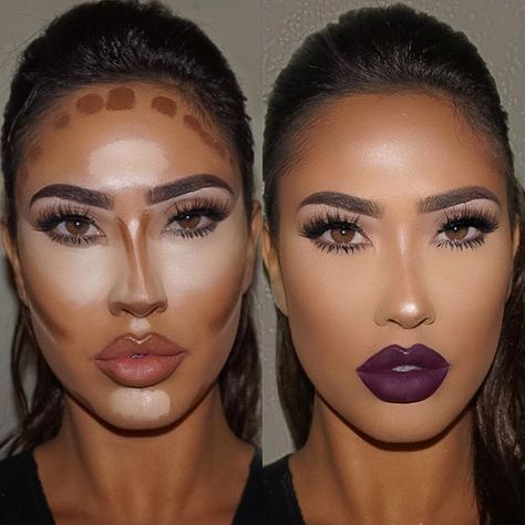Make up contouring, how to contour, face contouring makeup, contouring Makeup Contouring, Contouring And Highlighting, Skin Makeup, Strobing, Contouring Products, Contouring For Beginners, Contour Face, How To Contour Your Face, Makeup Ideas