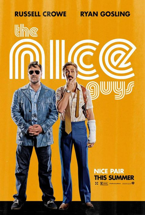 Check Out The Trailer And Poster For Shane Black's THE NICE GUYS  Warner Bros Pictures have just released a red band trailer and poster for Shane Black's upcoming '70s set action comedy, starring Ryan Gosling and Russell Crowe.   http://www.themoviewaffler.com/2015/12/check-out-trailer-and-poster-for-shane.html
