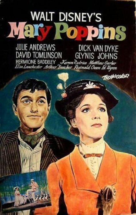 Mary Poppins 1964 film movie cinema metal tin sign poster