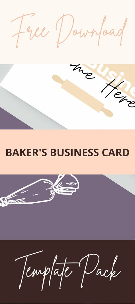 Never stress over the design of your business cards again! We have designed an amazing business card. #businesscarddesign #businesscardideas #bakingbusinesscards #businesscardtemplates #canvatemplates