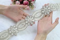 Cheap applique techniques, Buy Quality accessories box directly from China applique vest Suppliers: 1Yard Rhinestone Applique trim belt Bridal crystal Applique Wedding Accessories