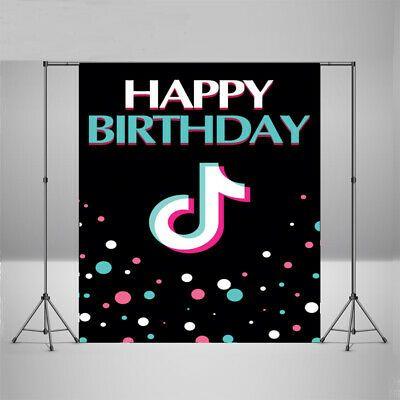 Tik Tok Photography Backdrop Music Video Happy Birthday Party Photo Background Birthday Party Gift Happy Birthday Parties Happy Birthday Party Decorations
