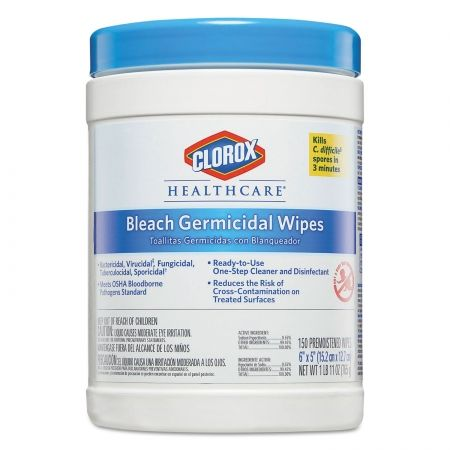 Clorox Healthcare Bleach Germicidal Wipes 6 X 5 Unscented 150 Canister 30577 Clorox Disinfecting Wipes Unscented