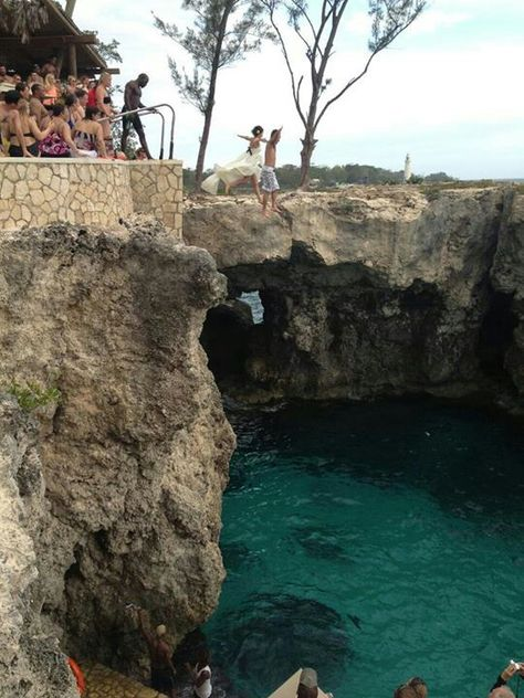 Cliff Jumping at Ricks Cafe - Negril, Jamaica   Places to