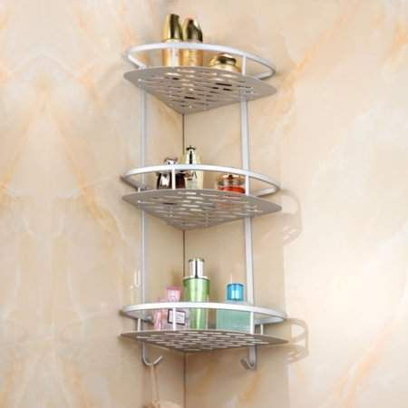 Yosoo Yosoo Space Saving 3 Tier Bathroom Corner Storage Triangular Shower Caddy Shelf Bathroom Cor Shower Shelves Bathroom Corner Storage Bathroom Organisation