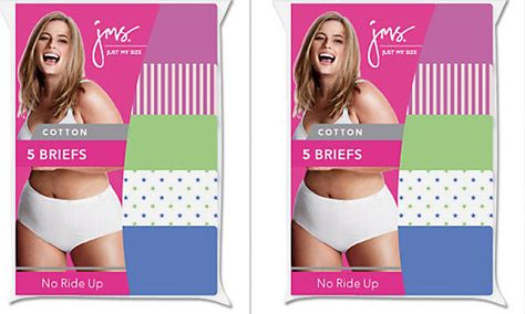 Panties 8-Pack Just My Size 100/% Cotton TAGLESS Brief 9-13 JMS Underwear Womens