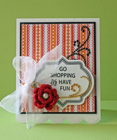 Go Shopping and Have Fun card designed by Beate Johns using @JustRite Stampers new Just Keep Calm set.