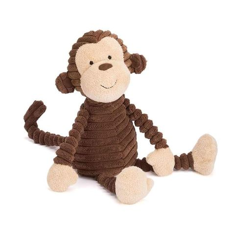 A bundle of buttercream-cocoa fun, that's loveable Cordy Roy Mutt! Huggably soft in chunky cordy fur, this pup is a tot's best friend. He's a tubby tyke, with a sticky-out tail, waggly ears and chocolate drop nose. Go for a scamper with this kooky Cordy and follow your nose for fun!