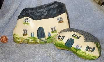 Painted rocks.  Such a great crafty idea and so personal.  Thrifty gift idea which I could see would be loved by the recipient simply because of the effort put in by the giver to give something so personal.  I'd love it if someone gave me a painted stone which they'd painted themselves.  How much more personal a gift could you get, and how much thought and time went into painting it.  Fabulous!