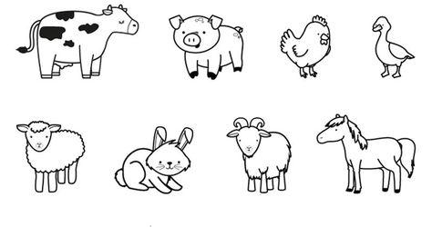 Actividades De La Granja Para Preescolar Buscar Con Google Granja Dibujo Animales Para Imprimir Animalitos Para Colorear