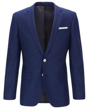 Blue 6A Hugo Boss Boys Wool Blazer