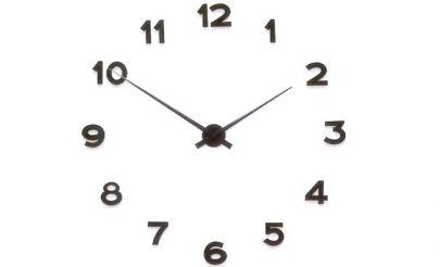 väggklocka lösa siffror svart