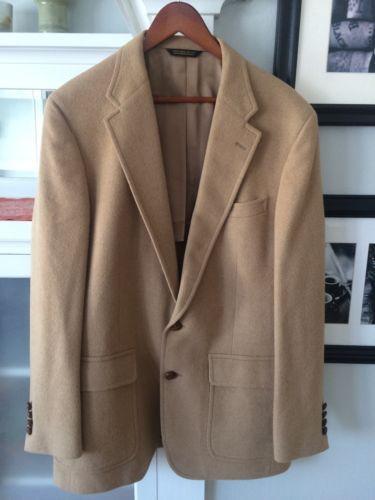 uk store best choice outlet sale GANT For BURKHARDTS 100% Camel Hair 2 Button Mens Blazer ...