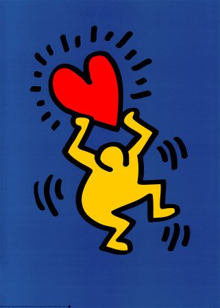 The artist Keith Haring : Biography! All the facts and images on the great American artist. Keith Haring was born in Reading, Pennsylvania, in In 1978 he moved to New York to attend the School of Visual Arts. Arte Pop, Keith Haring Kids, Keith Haring Poster, Keith Haring Prints, Illustration Inspiration, Heart Illustration, Tableau Pop Art, Art Moderne, Art Plastique