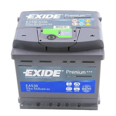 OEM Replacement Exide Premium Car Battery 77Ah Type 096 760CCA 4 Years Warranty