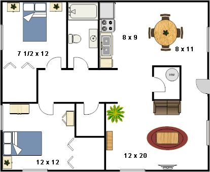 800 Sq Ft House Plans With 2 Bedrooms In 2018 Pinterest And Apartment Floor