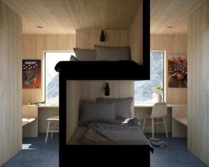 Tiny House Design Ideas With Two Beds 38 Bunk Bed Designs Bedroom Design Sibling Bedroom