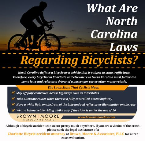What Are North Carolina Laws Regarding Bicyclists?