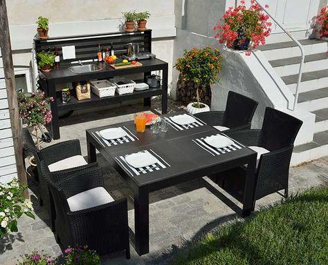 Tavolo Da Giardino Con Barbecue.Tavolo Da Giardino Fai Da Te Con Cucina Tavolo Giardino