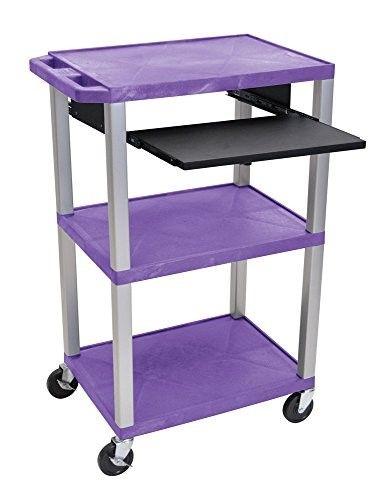 H Wilson Wtps42pe N Presentation Cart Green Shelves Blue Shelves Black Shelves