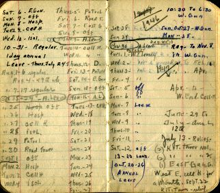 Pages From An Alcatraz Officers Personal Journal Noting His Work