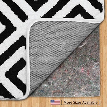 The Original Gorilla Grip R Felt Rubber Gripper Rug Pad Extra Thick Plush Cushion Support For Under Rugs Made In Us Rugs On Carpet