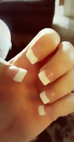Super nails simple classy french tips Ideas