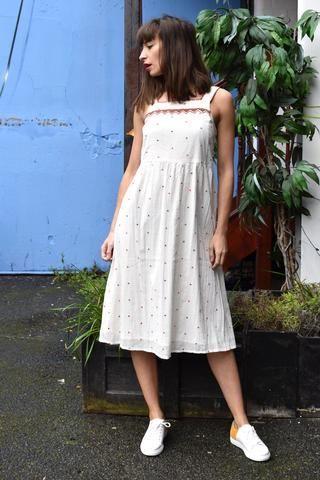 اجمل الفساتين الصيفية Embroidered Dress White Cotton Summer Dress Cotton Dress Summer
