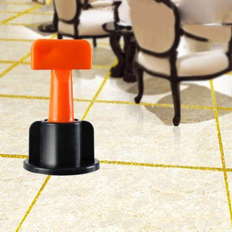 Eor51247 Construction Tools 50pcs Plastic Flat Ceramic Leveler Floor Wall Construction Tools Reusable In 2020 Tile Leveling System Construction Tools Ceramic Floor