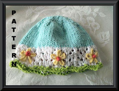 74f6faaf2f0 Baby Hat Pattern Knitted Hat Pattern Newborn Hat Pattern Infant Hat ...