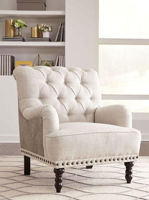 Excellent Ashley Tartonelle Ivory Taupe Accent Chair Accent Chairs Uwap Interior Chair Design Uwaporg