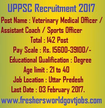 UPPSC Recruitment 2017 Advt No  04\/2016-2017 Post Name - medical officer job description