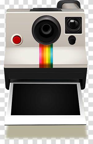 White And Black Polaroid Instant Camera Illustration Instant Camera Polaroid Cameras Transparent Camera Illustration Instant Camera Polaroid Instant Camera