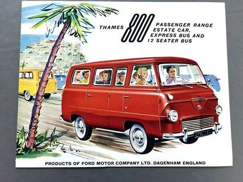 1961 Ford Thames 800 Van Bus Original Vintage Car Sales Brochure Catalog • $23.96