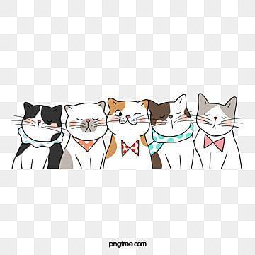 แมว แมวแมวแมวแมวแมวแมว การ ต น ส ตว ภาพ Png และ Psd สำหร บดาวน โหลดฟร การวาดคาแรคเตอร ส ตว การ ต น