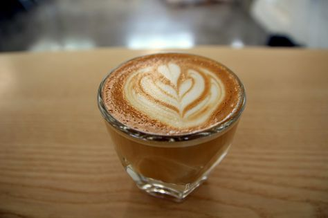 Double Skinny Macchiato Latte Latte Art Food
