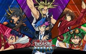 All Yu Gi Oh Protagonists Wallpaper Background By Fackuula12 On Deviantart Wallpaper Backgrounds Yugioh Wallpaper