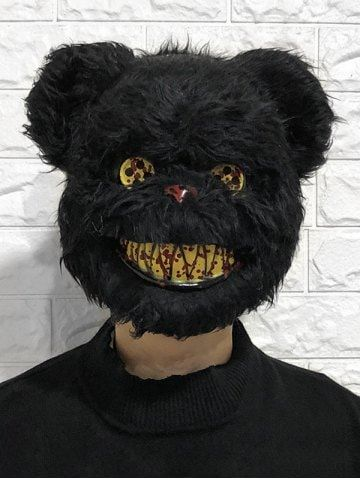 Adult Snowball Bunny Mask Halloween Horror Zombie Fancy Dress Accessory Purge