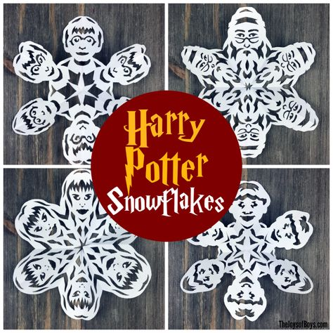 Harry Potter Snowflakes Links To Templates And Video