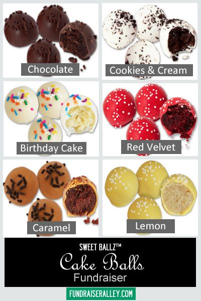 Cake Balls Fundraiser Yummy Fundraising Idea Features 6 Flavors