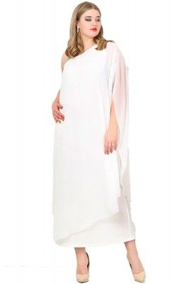 Angelino Butik Buyuk Beden Sifon Tek Taraf Askili Elbise Kl6060u 1 Elbise The Dress Gelinlik